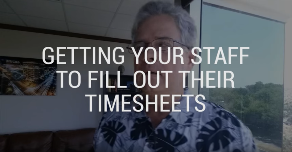 Getting Your Staff to Submit their Timesheets