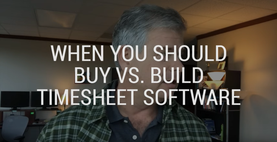 When You Should Buy vs Build Timesheet Software
