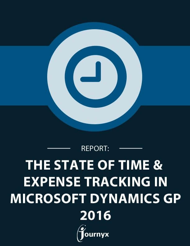 NEW REPORT: 2016 State of Time and Expense Tracking for Microsoft Dynamics GP