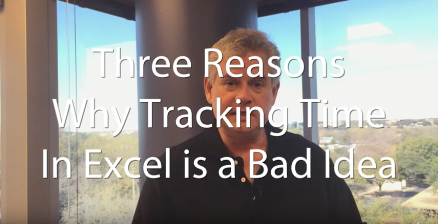 tracking time in excel is bad - person talking