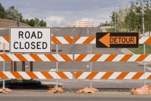 detour - road closed