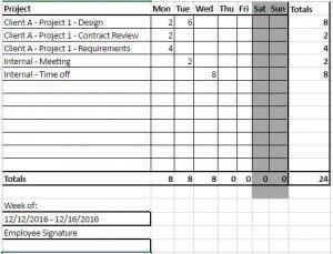 Sample Excel Timesheet