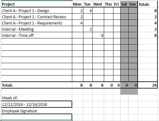 Tracking Time In Excel For Your Projects What To Watch Out For