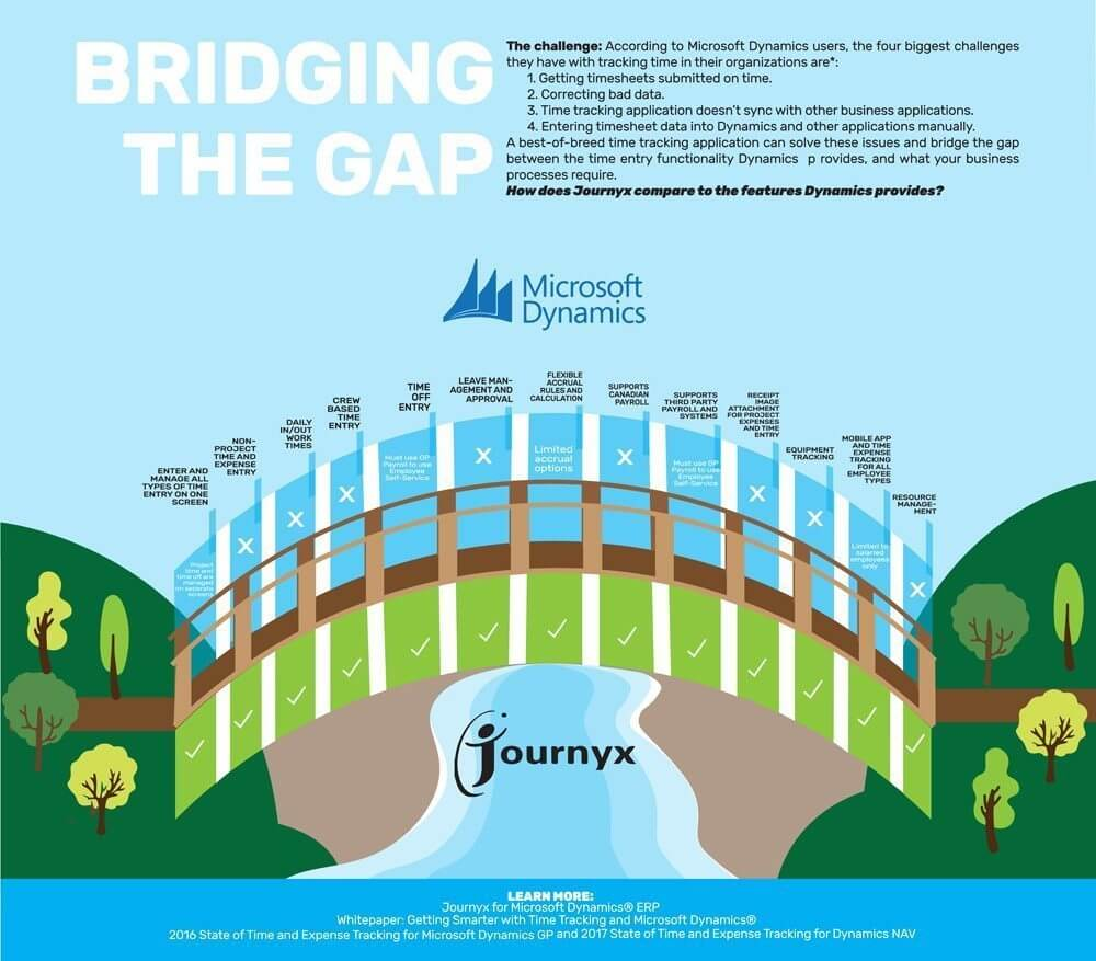 Infographic Time Entry In Microsoft Dynamics Bridging