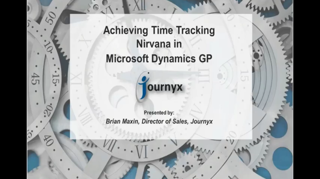 Achieving Time Tracking Nirvana with Dynamics GP graphic