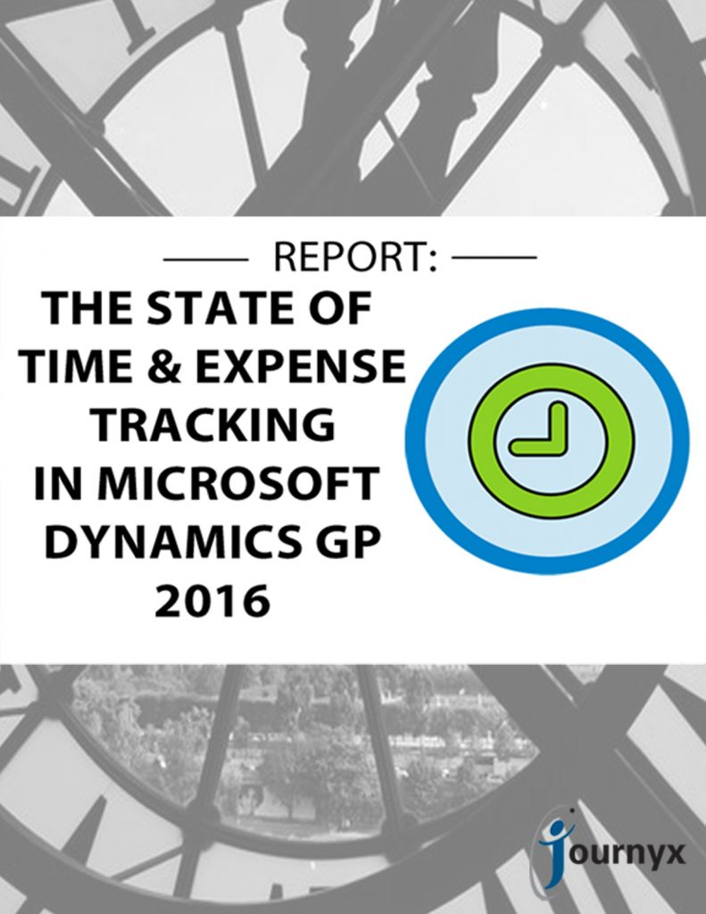 2016 State of Time and Expense Tracking in Microsoft Dynamics GP
