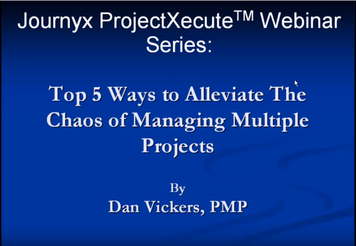 Top 5 Ways to Alleviate The Chaos of Managing Multiple Projects