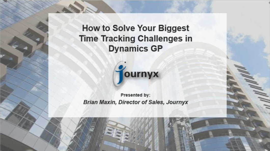 how to solve your biggest time tracking problems in microsoft dynamics gp graphic