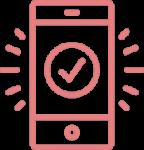 phone and check mark