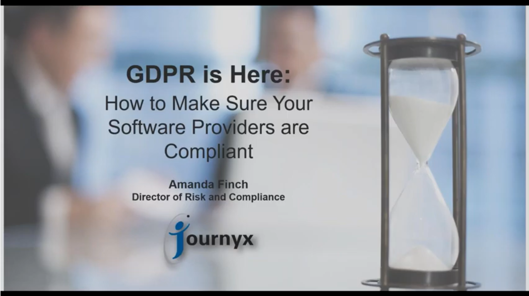 GDPR is Here graphic
