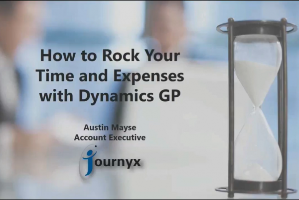 How to rock your time and expenses with dynamics GP graphics