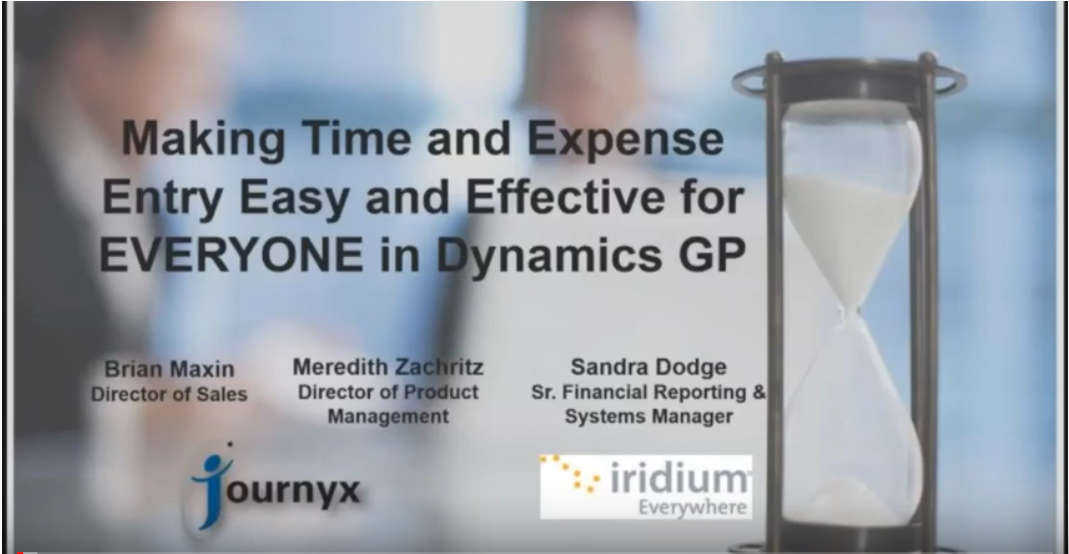 Making Time and Expense Entry Easy and Effective for EVERYONE in Dynamics GP graphic
