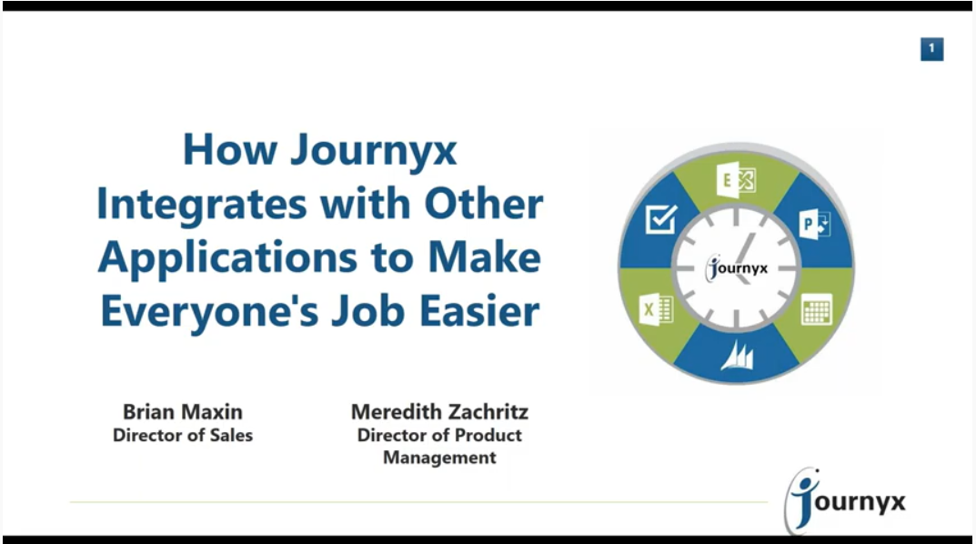 how journyx integrates with other applications to make everyones job easier graphic
