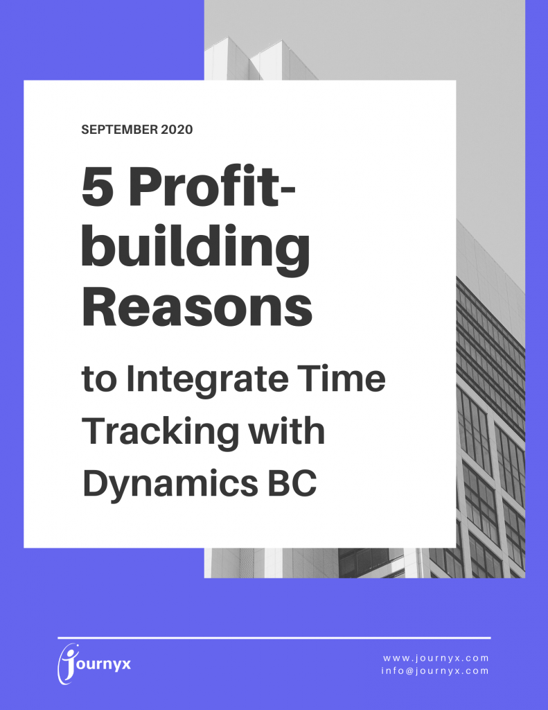 5 Profit-building Reasons to Integrate Time Tracking with Dynamics BC
