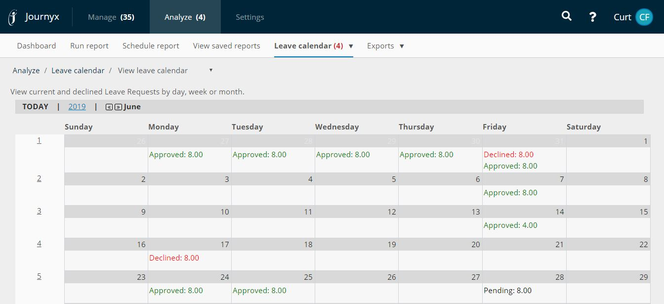 pto tracker leave management calendar