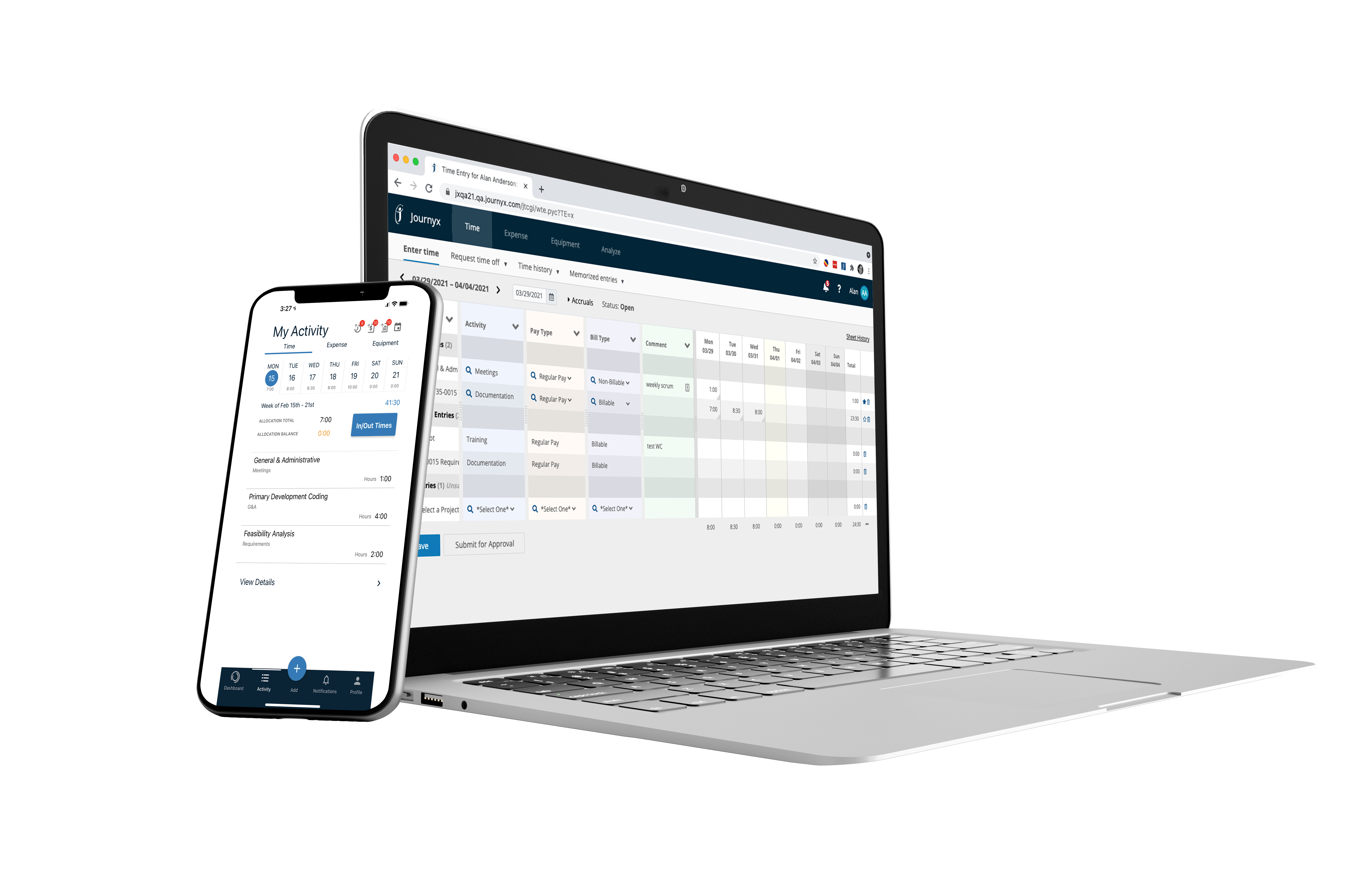 time tracking software journyx